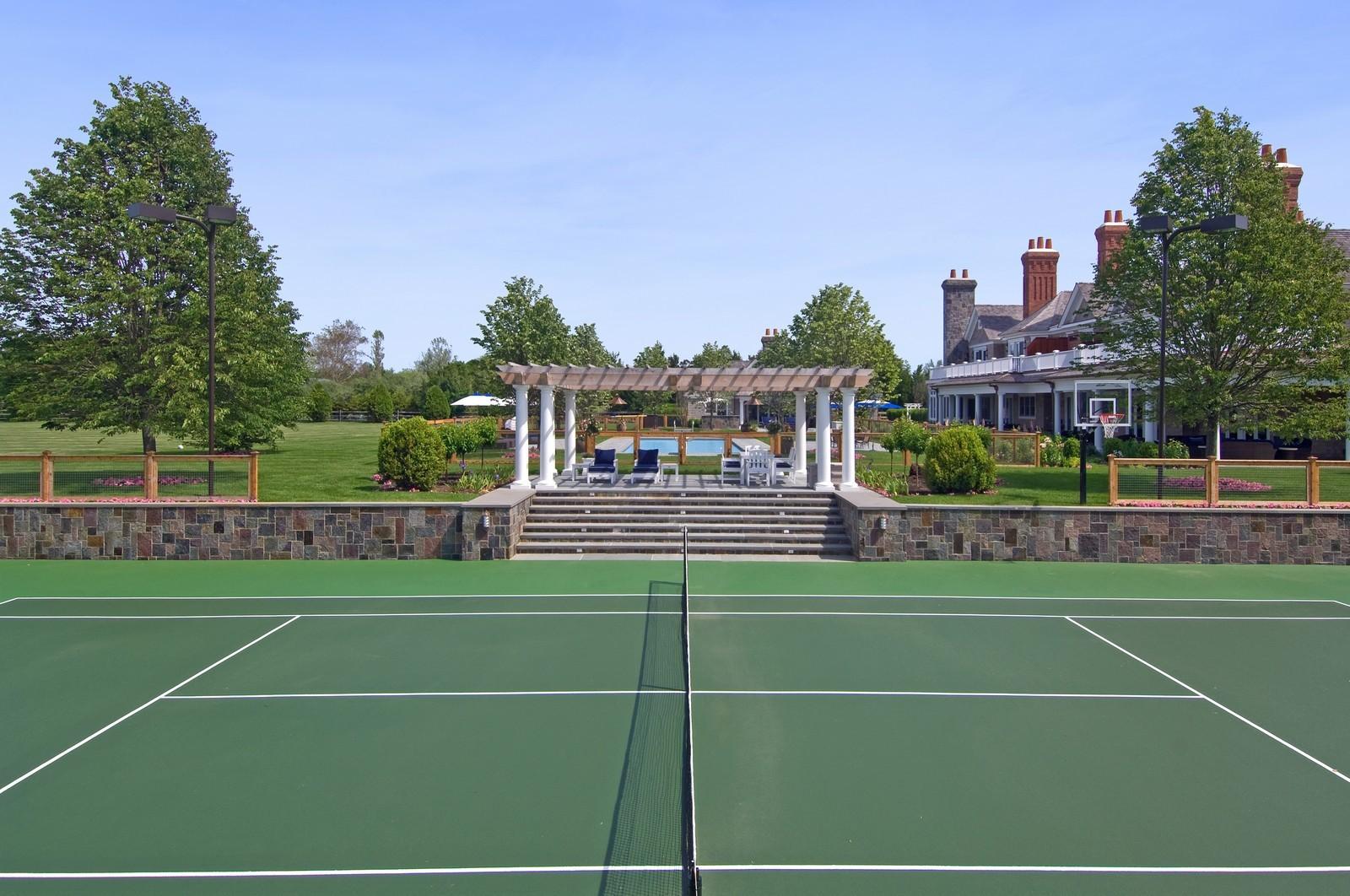 Real Estate Photography - 612 halsey lane, bridgehampton, NY, 11932 - Tennis Court
