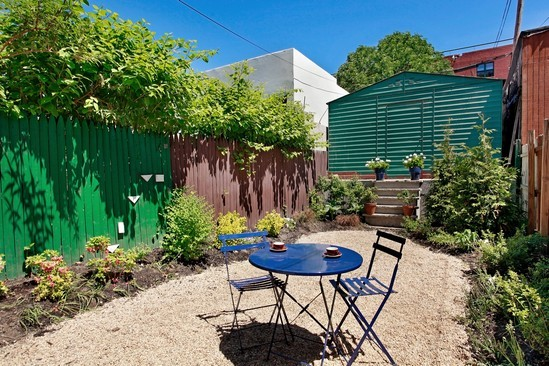 Real Estate Photography - 116 Pioneer Street, Brooklyn, NY, 11231 - Garden