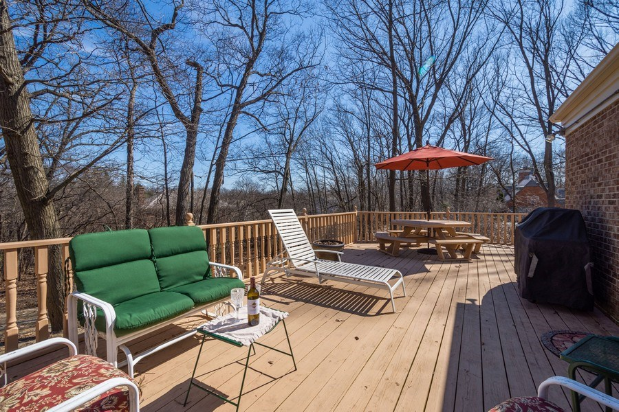 Real Estate Photography - 22023 W. Chestnut Ridge, Kildeer, IL, 60047 - Deck