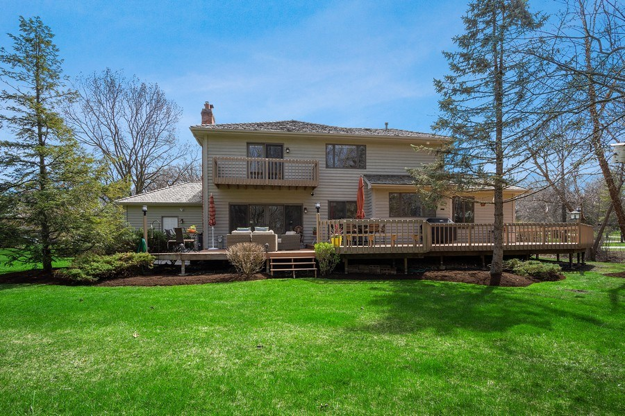 Real Estate Photography - 21362 W. Brandon Road, Kildeer, IL, 60047 - View of Deck with Backyard