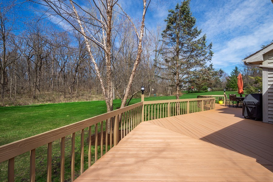 Real Estate Photography - 21362 W. Brandon Road, Kildeer, IL, 60047 - Wrap-Around Deck