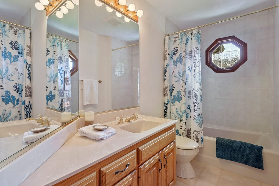 Real Estate Photography - 21362 W. Brandon Road, Kildeer, IL, 60047 - 2nd Bathroom