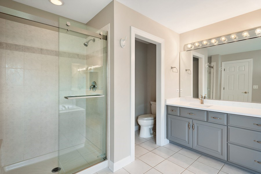 Real Estate Photography - 22935 N. Woodcrest Lane, Kildeer, IL, 60047 - Master Bathroom
