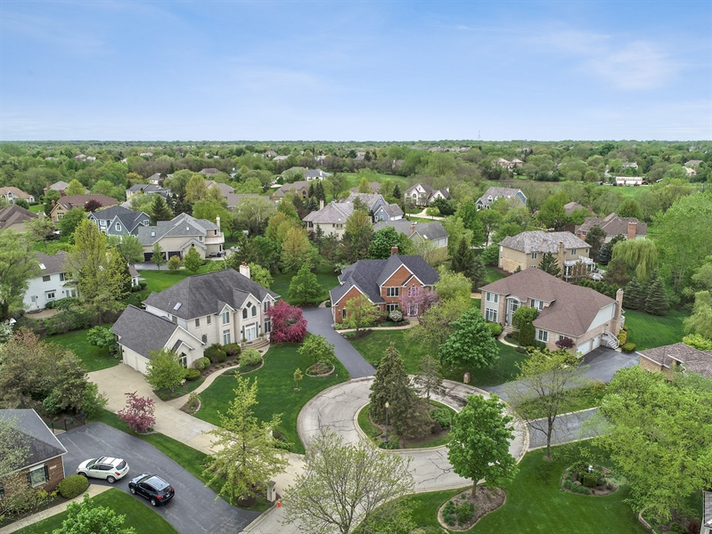 Real Estate Photography - 22935 N. Woodcrest Lane, Kildeer, IL, 60047 - Aerial View