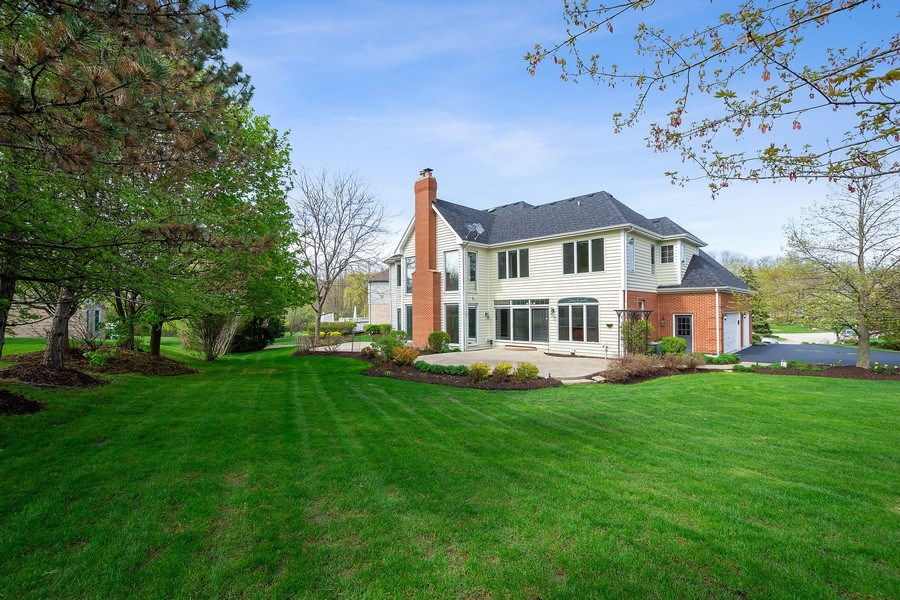Real Estate Photography - 22935 N. Woodcrest Lane, Kildeer, IL, 60047 - Rear View