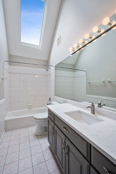 Real Estate Photography - 22935 N. Woodcrest Lane, Kildeer, IL, 60047 - 2nd Bathroom