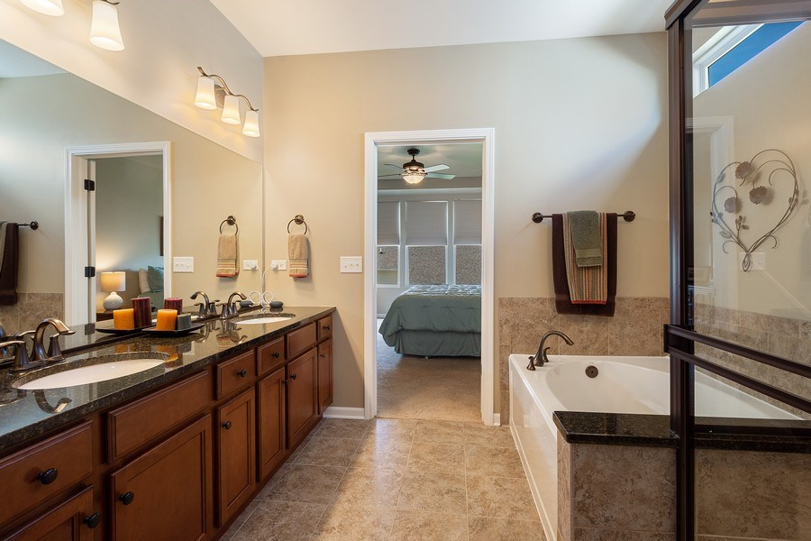 Real Estate Photography - 3440 Rockwell Circle, Mundelein, IL, 60060 - Master Bathroom