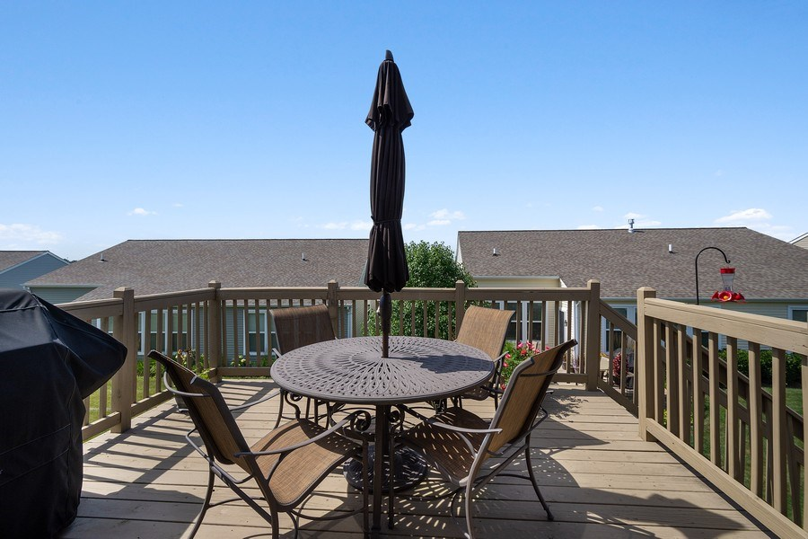 Real Estate Photography - 3440 Rockwell Circle, Mundelein, IL, 60060 - Deck