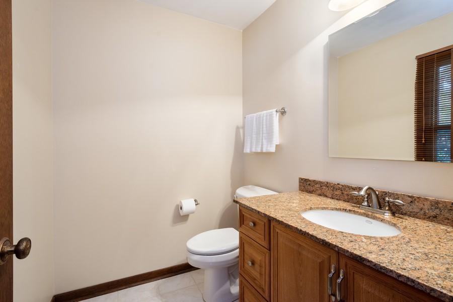 Real Estate Photography - 1869 Burr Ridge Drive, Hoffmann Estates, IL, 60192 - Powder Room