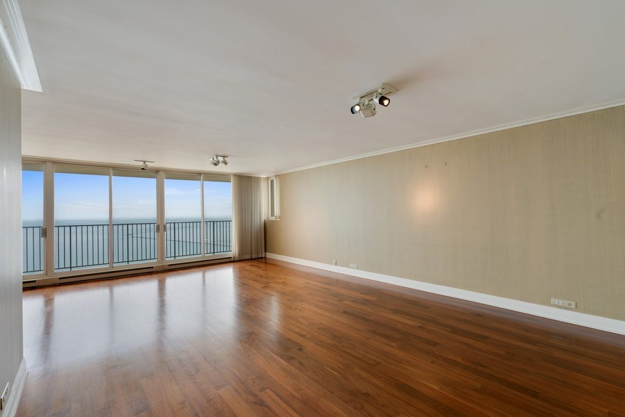 Real Estate Photography - 1212 N Lake Shore Drive, 32AS, Chicago, IL, 60610 - Living Room
