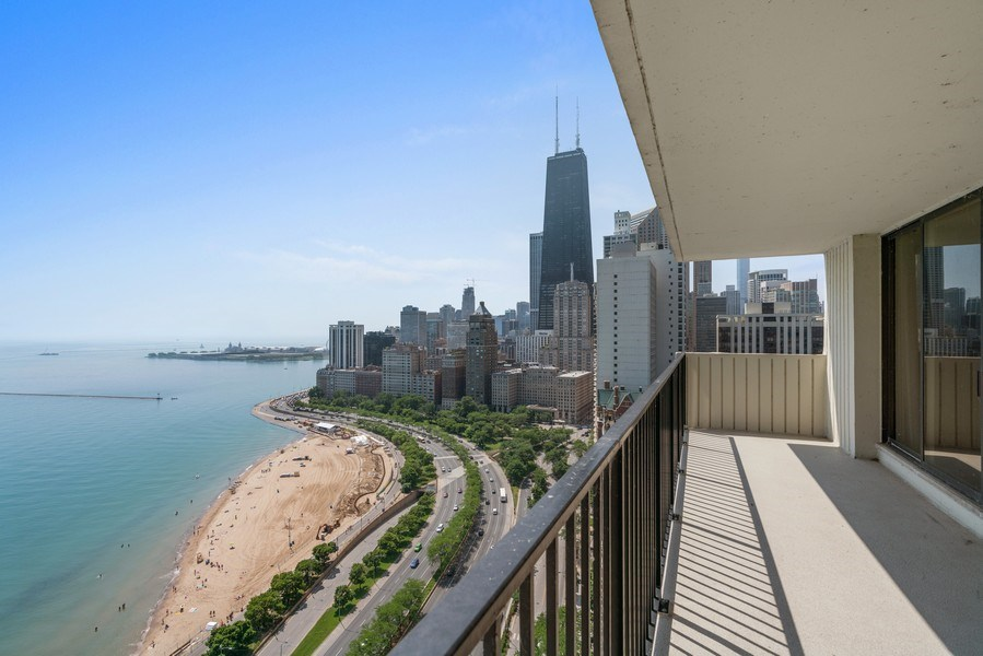 Real Estate Photography - 1212 N Lake Shore Drive, 32AS, Chicago, IL, 60610 - Terrace