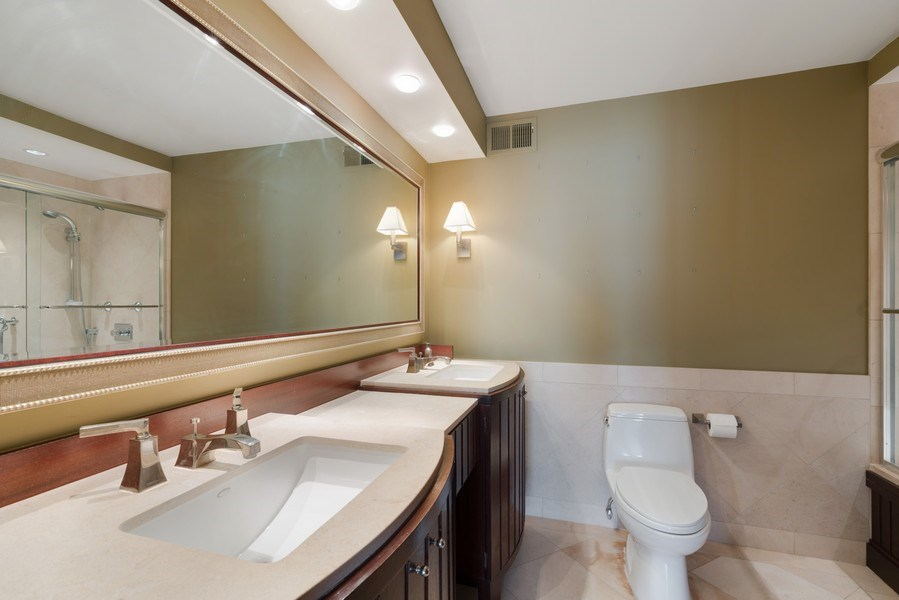 Real Estate Photography - 1212 N Lake Shore Drive, 32AS, Chicago, IL, 60610 - Master Bathroom