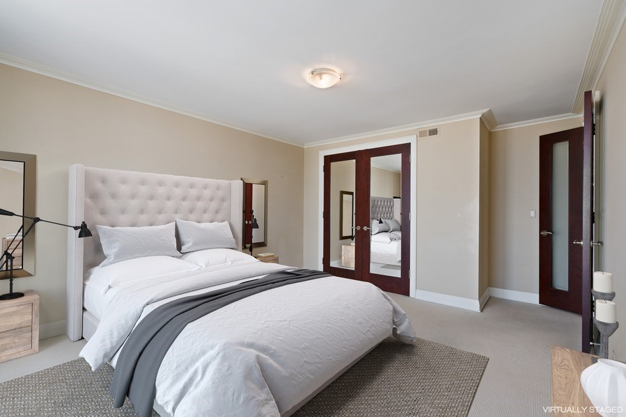 Real Estate Photography - 1212 N Lake Shore Drive, 32AS, Chicago, IL, 60610 - 2nd Bedroom