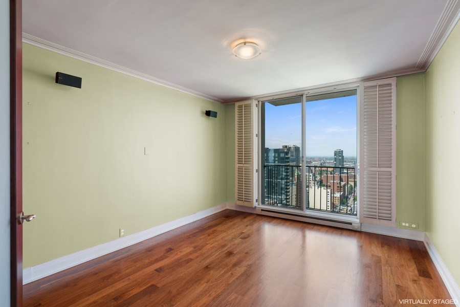 Real Estate Photography - 1212 N Lake Shore Drive, 32AS, Chicago, IL, 60610 - 3rd Bedroom
