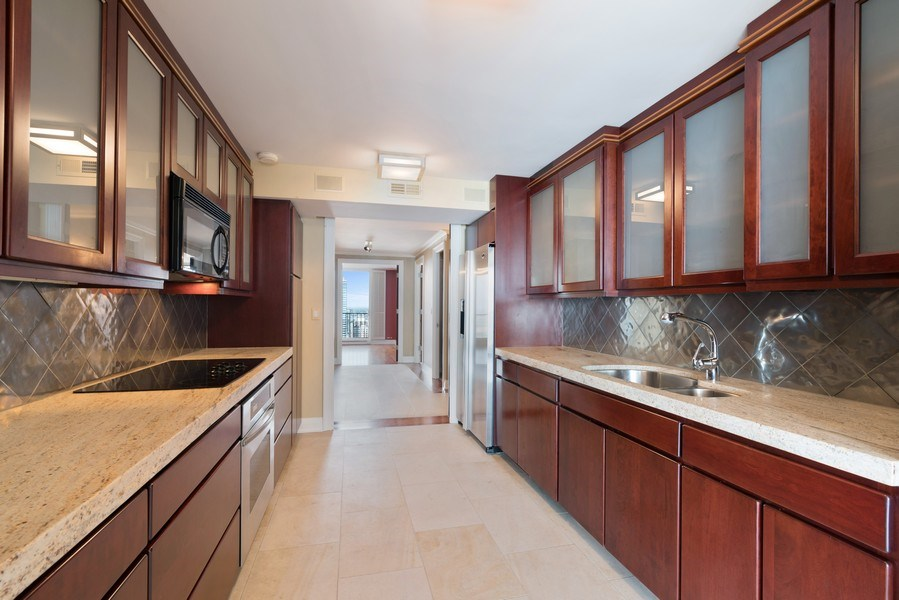 Real Estate Photography - 1212 N Lake Shore Drive, 32AS, Chicago, IL, 60610 - Kitchen