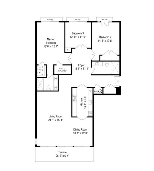 Real Estate Photography - 1212 N Lake Shore Drive, 32AS, Chicago, IL, 60610 - Floor Plan