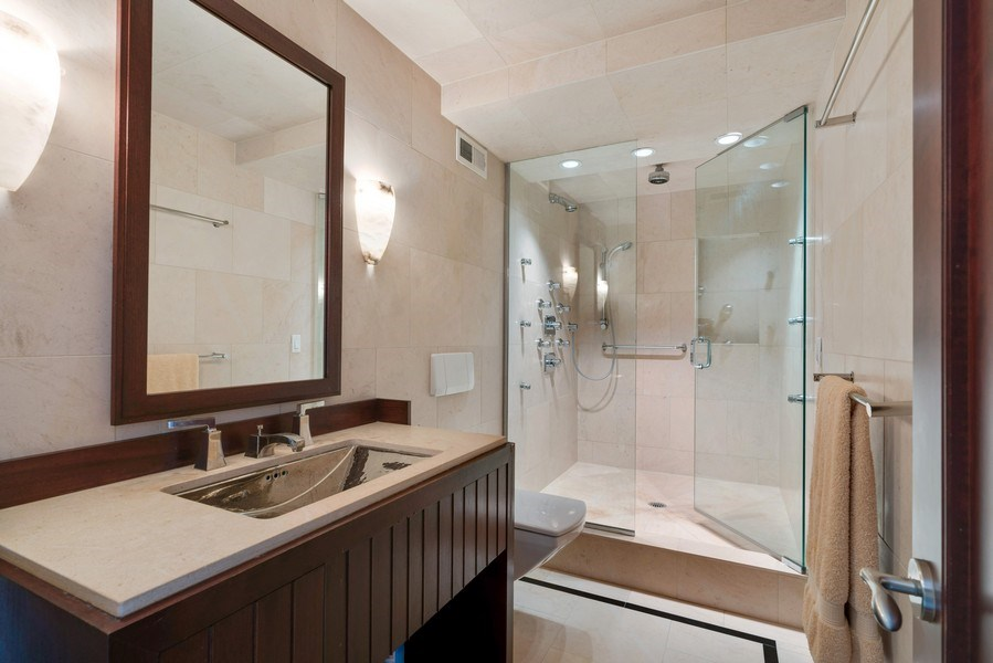 Real Estate Photography - 1212 N Lake Shore Drive, 32AS, Chicago, IL, 60610 - Bathroom
