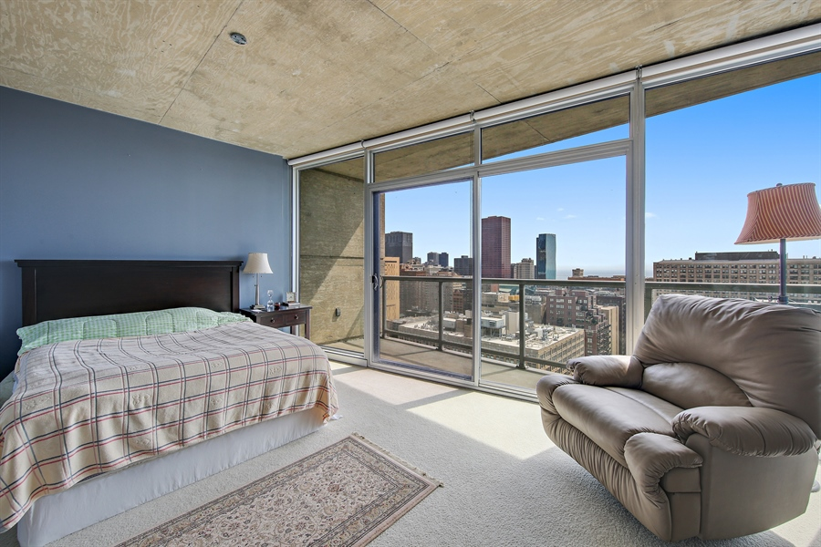Real Estate Photography - 611 S Wells Street, 2609, chicago, IL, 60607 - Master Bedroom