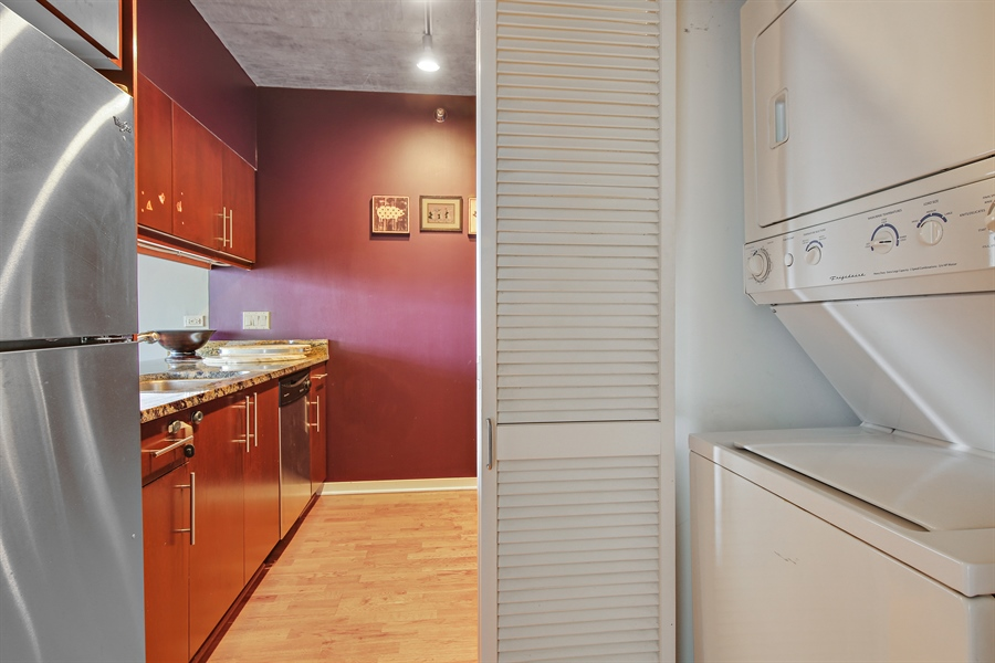 Real Estate Photography - 611 S Wells Street, 2609, chicago, IL, 60607 - Laundry Room