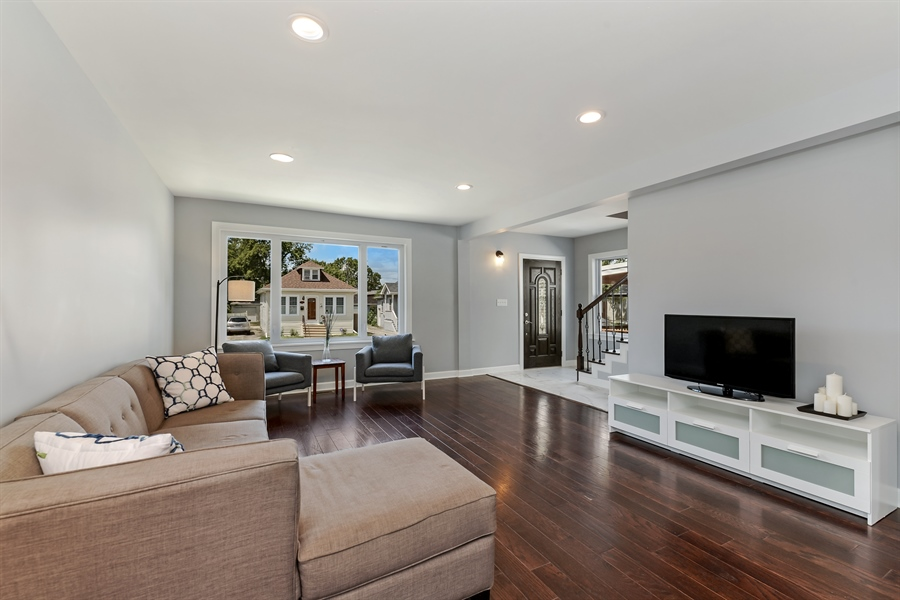 Real Estate Photography - 3325 N Osceola Avenue, Chicago, IL, 60634 - Living Room