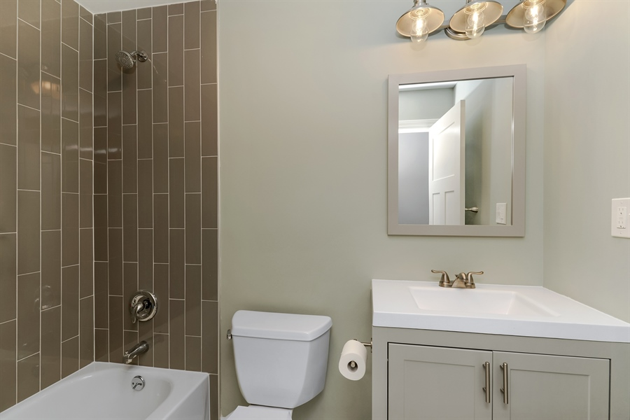 Real Estate Photography - 3325 N Osceola Avenue, Chicago, IL, 60634 - 2nd Bathroom