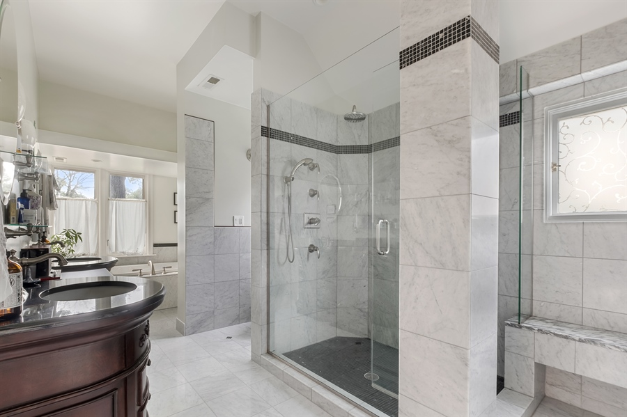 Real Estate Photography - 1241 Maple Ave, Wilmette, IL, 60091 - Master Bathroom