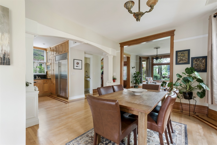 Real Estate Photography - 1241 Maple Ave, Wilmette, IL, 60091 - Dining Room