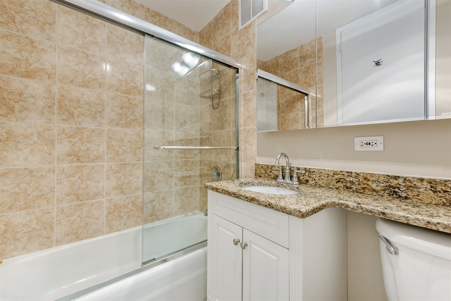 Real Estate Photography - 655 W Irving Park Rd, 2802, Chicago, IL, 60613 - Master Bathroom