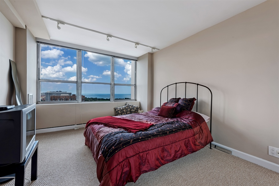 Real Estate Photography - 655 W Irving Park Rd, 2802, Chicago, IL, 60613 - 2nd Bedroom