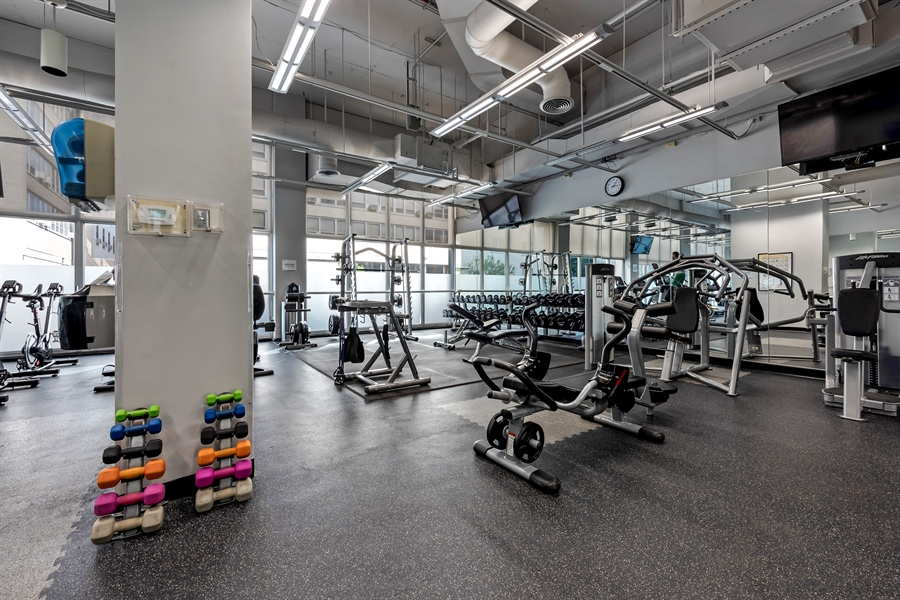 Real Estate Photography - 655 W Irving Park Rd, 2802, Chicago, IL, 60613 - Fitness Center