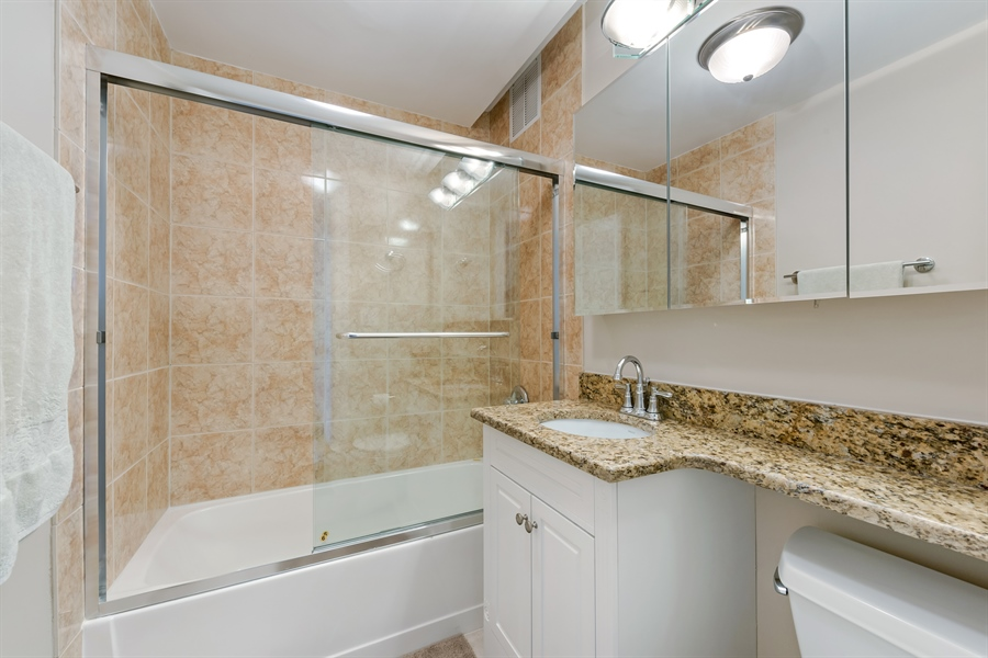 Real Estate Photography - 655 W Irving Park Rd, 2802, Chicago, IL, 60613 - 2nd Bathroom