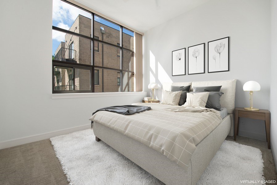 Real Estate Photography - 1137 N. Wood, 1H, Chicago, IL, 60622 - 2nd Bedroom