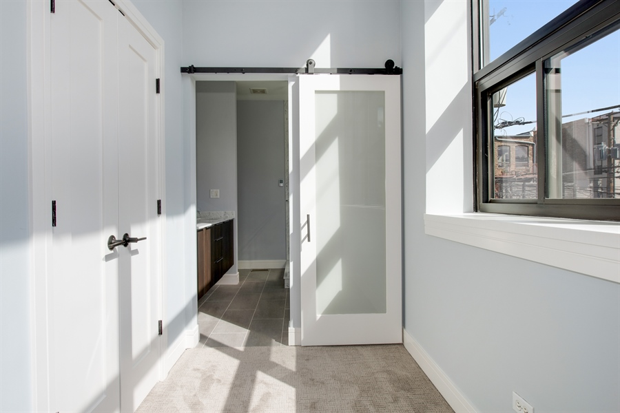 Real Estate Photography - 1137 N. Wood, 1H, Chicago, IL, 60622 - Master Bedroom Closet