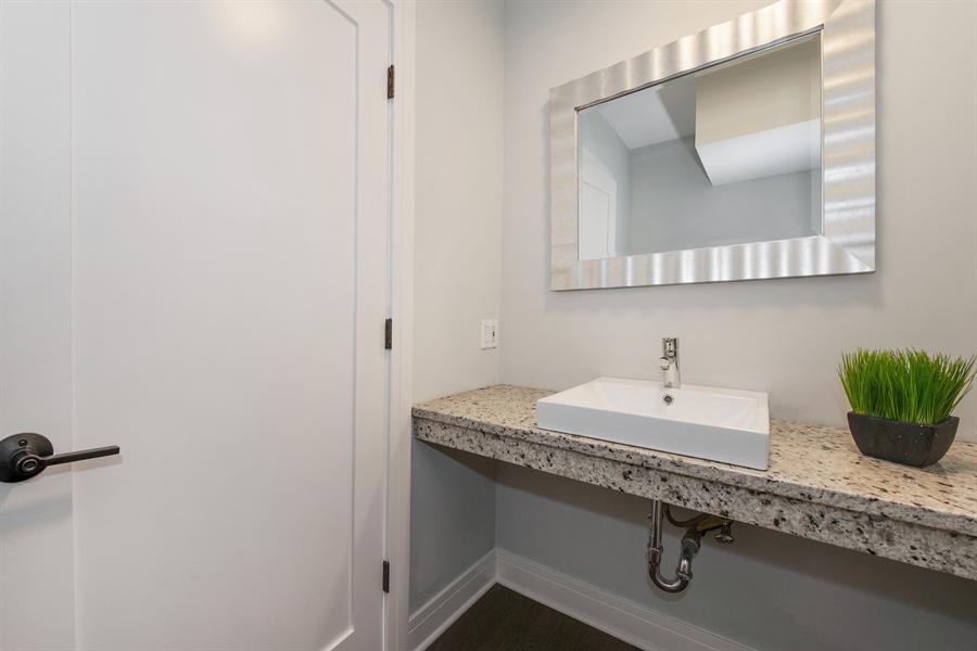 Real Estate Photography - 1137 N. Wood, 1H, Chicago, IL, 60622 - Half Bath