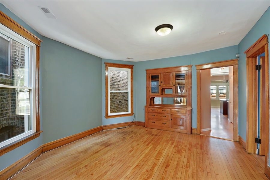 Real Estate Photography - 3742 N Ashland Ave, Unit 2, Chicago, IL, 60613 - Dining Room