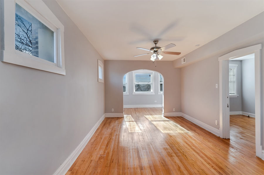 Real Estate Photography - 4314 Shakespeare, Unit 3, Chicago, IL, 60639 - Living Room