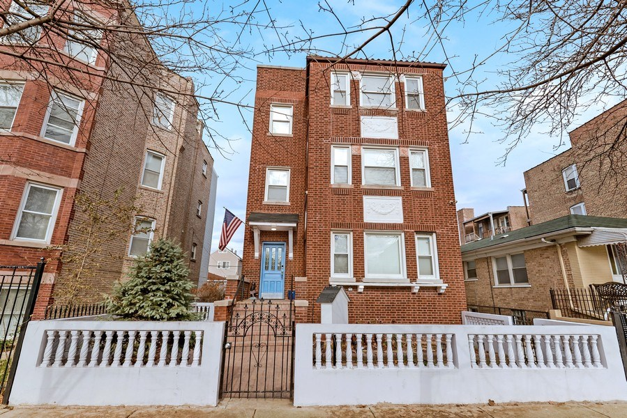 Real Estate Photography - 4314 Shakespeare, Unit 3, Chicago, IL, 60639 - Front View