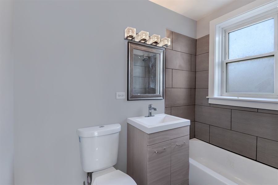 Real Estate Photography - 4314 Shakespeare, Unit 3, Chicago, IL, 60639 - Bathroom