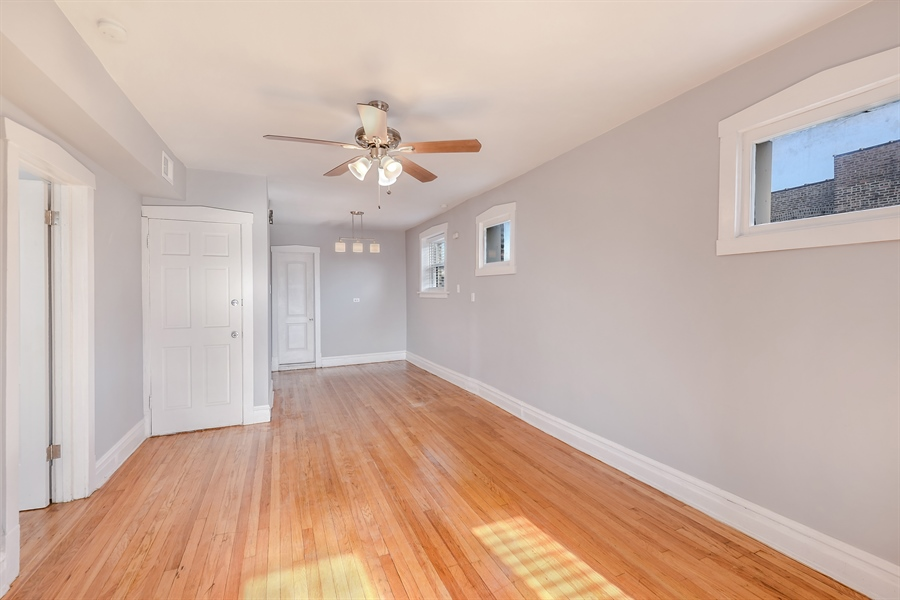 Real Estate Photography - 4314 Shakespeare, Unit 3, Chicago, IL, 60639 - Living Room / Dining Room