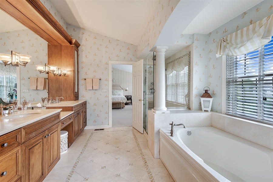 Real Estate Photography - 1748 Primrose Ln, Glenview, IL, 60026 - Master Bathroom
