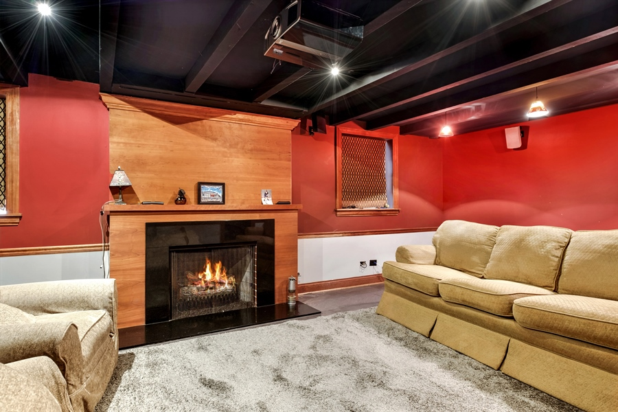 Real Estate Photography - 838 Indian Rd, Glenview, IL, 60025 - Family Room