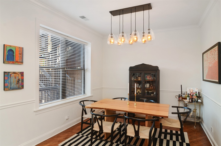 Real Estate Photography - 2008 N Kennmore, Unit B, Chicago, IL, 60614 - Dining Room