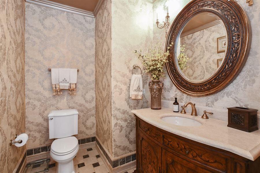 Real Estate Photography - 3393 Old Mill Rd, Highland Park, IL, 60035 - Powder Room