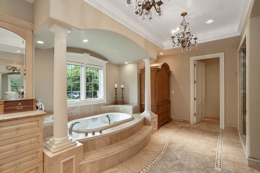 Real Estate Photography - 3393 Old Mill Rd, Highland Park, IL, 60035 - Master Bathroom