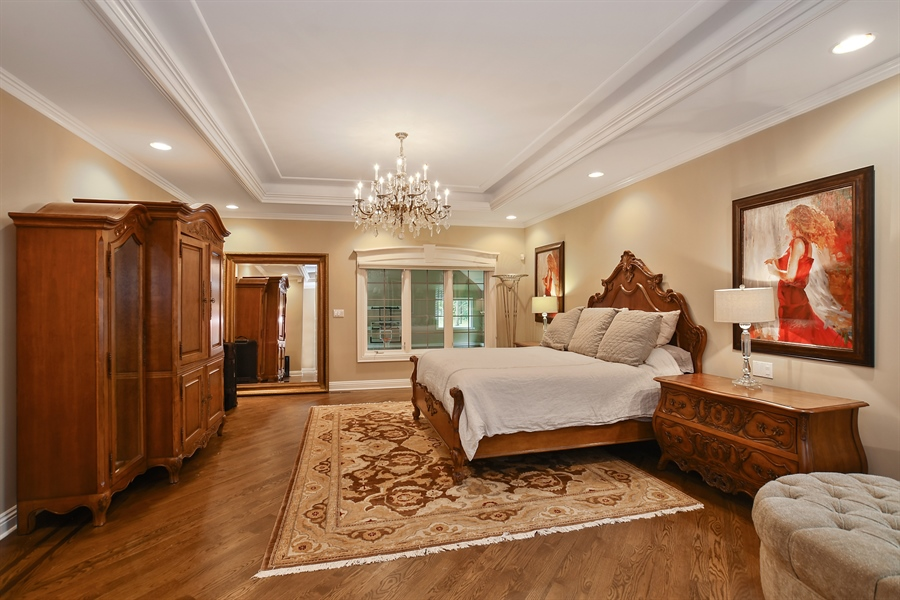 Real Estate Photography - 3393 Old Mill Rd, Highland Park, IL, 60035 - Master Bedroom