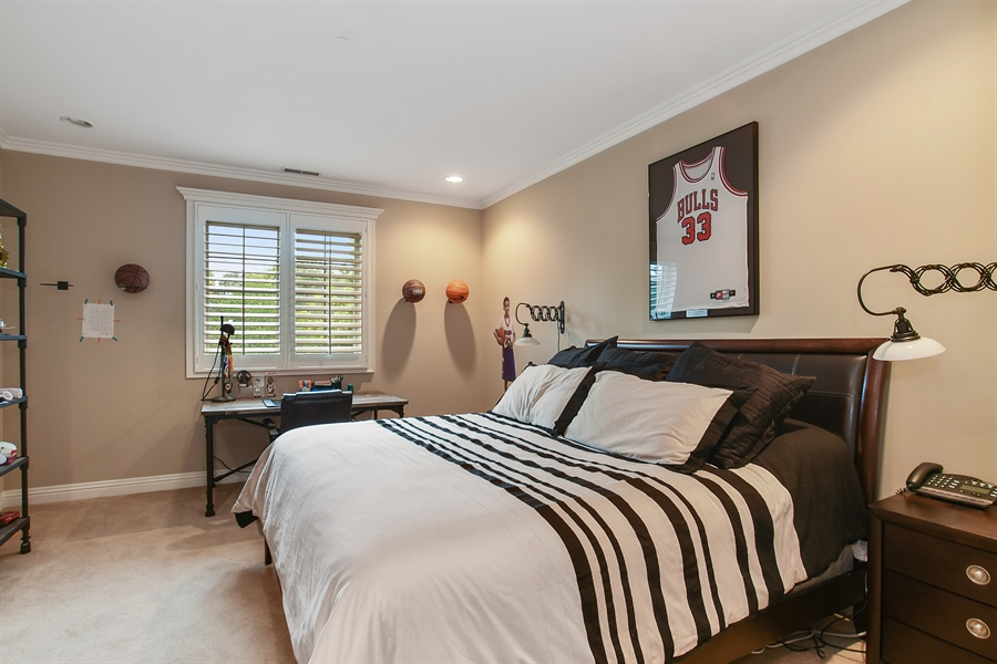 Real Estate Photography - 3393 Old Mill Rd, Highland Park, IL, 60035 - Bedroom