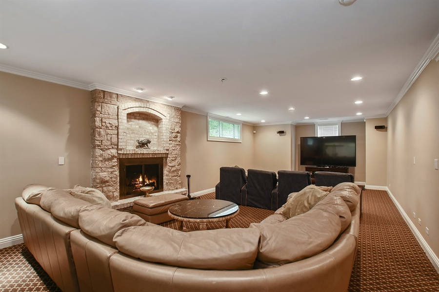 Real Estate Photography - 3393 Old Mill Rd, Highland Park, IL, 60035 - Recreation Room