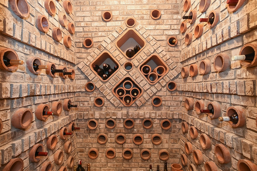 Real Estate Photography - 3393 Old Mill Rd, Highland Park, IL, 60035 - Wine Cellar