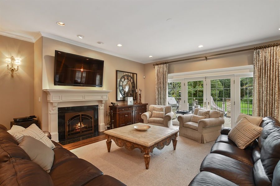 Real Estate Photography - 3393 Old Mill Rd, Highland Park, IL, 60035 - Family Room