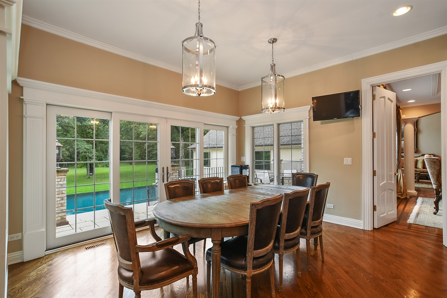 Real Estate Photography - 3393 Old Mill Rd, Highland Park, IL, 60035 - Breakfast Room